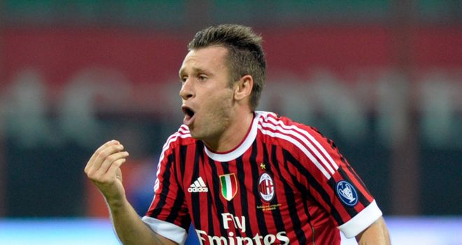 Antonio Cassano: Has suffered no lasting damage and is expected to play again
