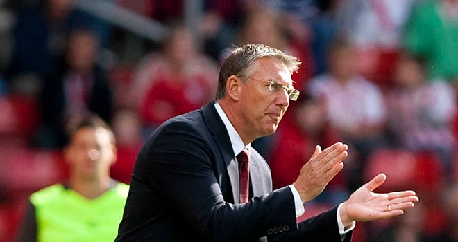 Nigel Adkins: Southampton manager opted to blood his youngsters in Carling Cup