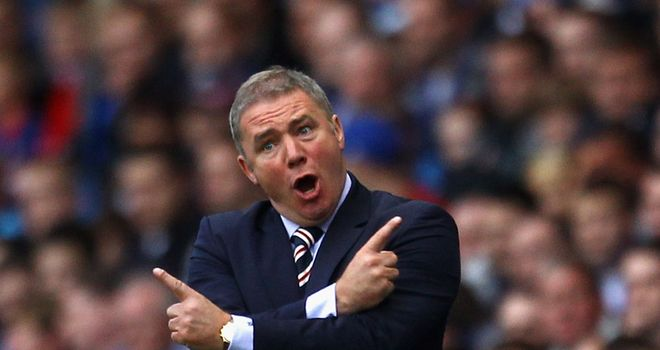 Ally McCoist: Rewarded for fine form in September with his first Manager of the Month award