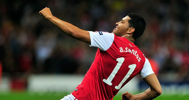 Andre Santos: Brazilian defender has made 14 appearances since joining the Gunners