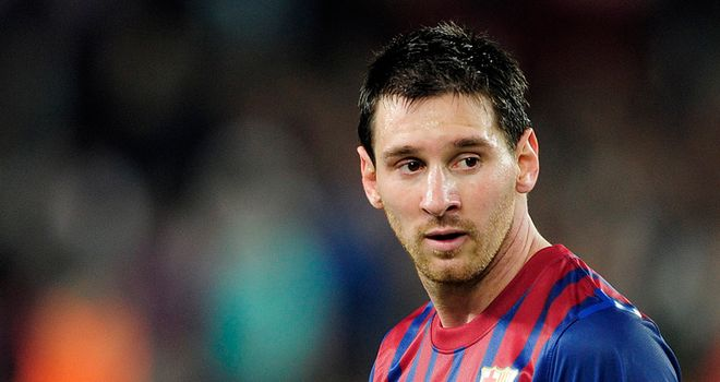 Lionel Messi: Scored his 195th and 196th Barcelona goals in victory over Racing Santander