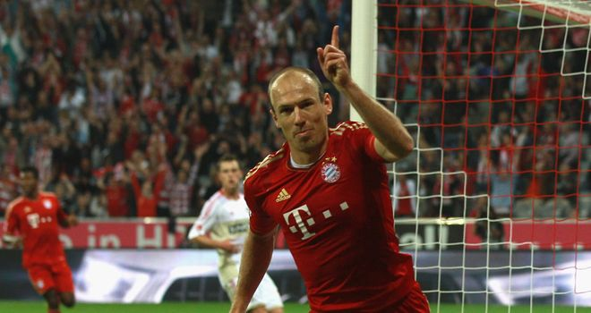 Arjen Robben: Dutch winger will miss Bayern Munich's game at Manchester City due to flu