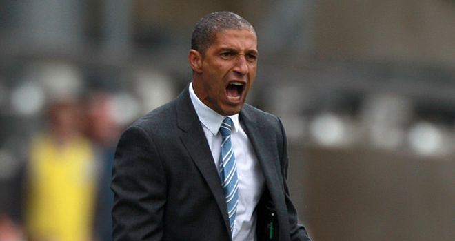Chris Hughton: Birmingham boss roaring his side onto a late victory
