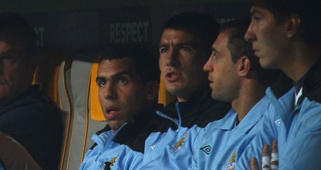 Tevez: Reportedly refused to step off the bench during a clash with Bayern Munich
