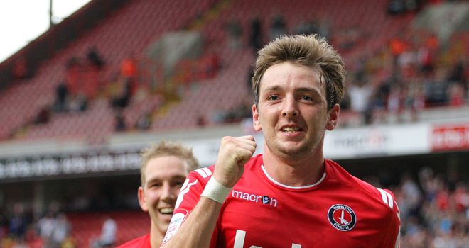 Stephens: Celebrates his goal for Charlton
