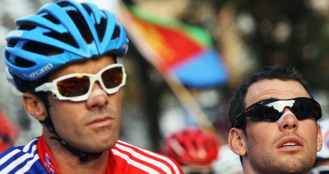 Olympic chance: David Millar (left) and Mark Cavendish