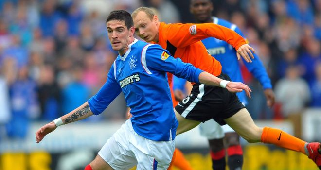 Kyle Lafferty: The Rangers striker is having a back scan and will miss Tuesday night's match in Hamburg