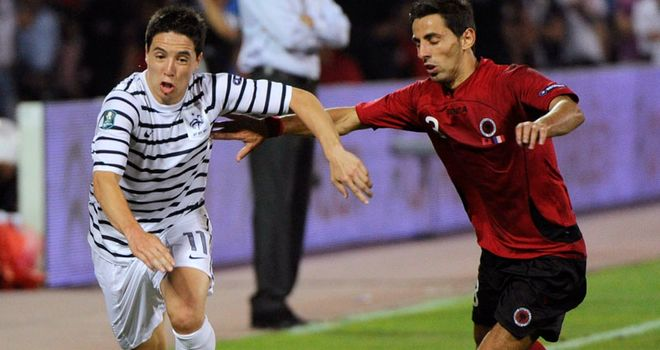 Nasri: Yet to fulfil his potential, according to France coach Blanc
