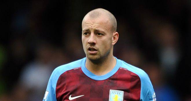 Alan Hutton: Backed by McLeish to recover his best form at Villa