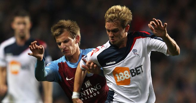 Stuart Holden: Bolton midfielder impressed in his only appearance of the season against Aston Villa