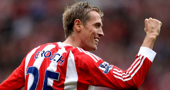 Crouch: Scored to rescue a 1-1 draw against Man Utd