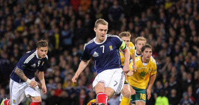 Fletcher: Saw his spot-kick saved, but Scotland recovered to pick up a 1-0 win