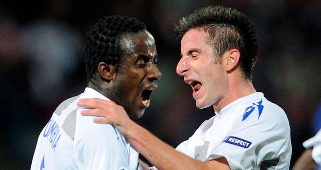 Doumbia: Scored a briiliant double to earn his side a point