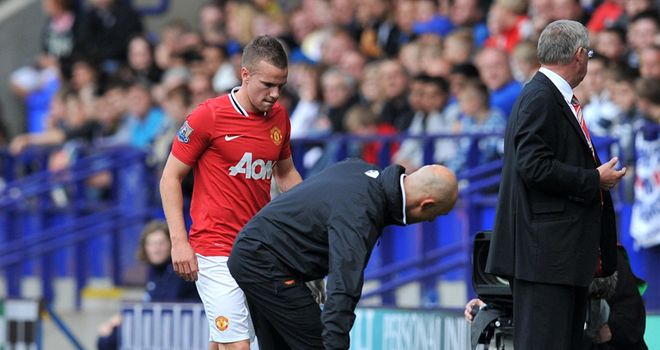 Cleverley: Out for a month after suffering ligament damage in his foot against Bolton