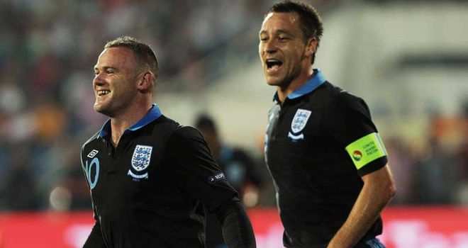 John Terry (R): Wants the public to go easy on Rooney after red card
