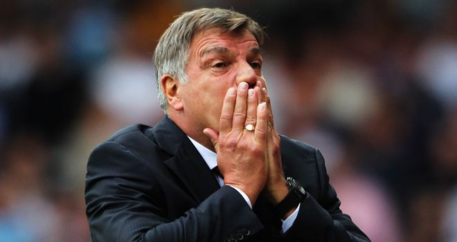 Allardyce: The West Ham boss found the hot coals were tougher than he expected