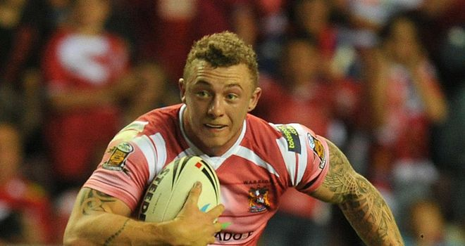Charnley: would have had four tries had Harrison Hansen not been penalised for obstruction