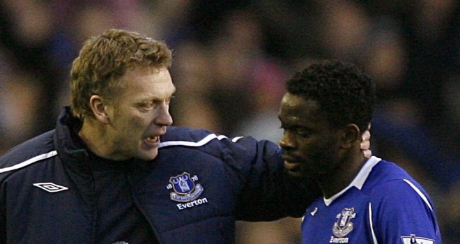 Saha: Back involved for Everton after a fall-out with manager David Moyes last month