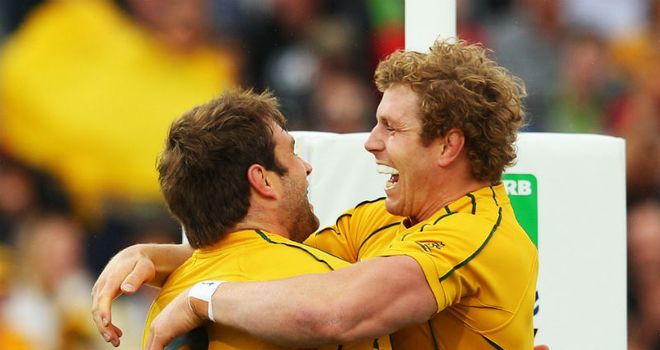 Pocock and McCalman (l) celebrate