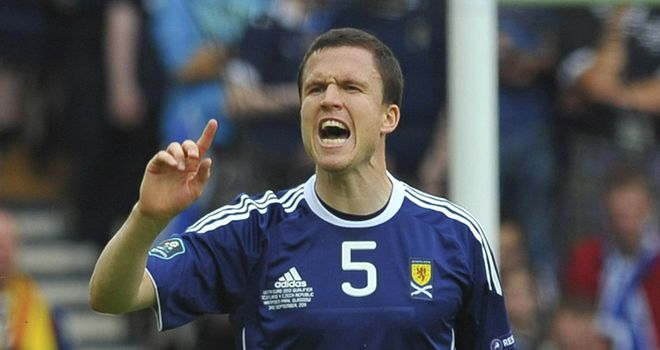 Gary Caldwell: Set to captain Scotland against Slovenia in the absence of Darren Fletcher and Kenny Miller