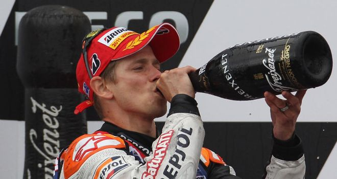 Casey Stoner: Secured world championship after Phillip Island win