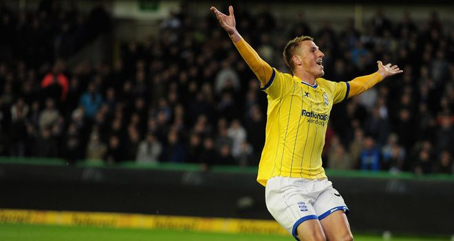 Chris Wood: Enjoying the chance to play regularly and score goals during his loan at Birmingham