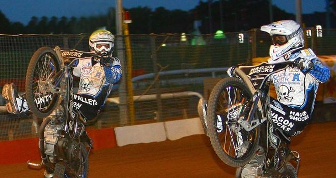 Darcy Ward and Chris Holder: Won't be separated (Pic credit Les Aubrey)