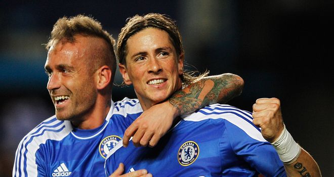 Raul Meireles and Fernando Torres: Both left Liverpool within the last year to join Chelsea