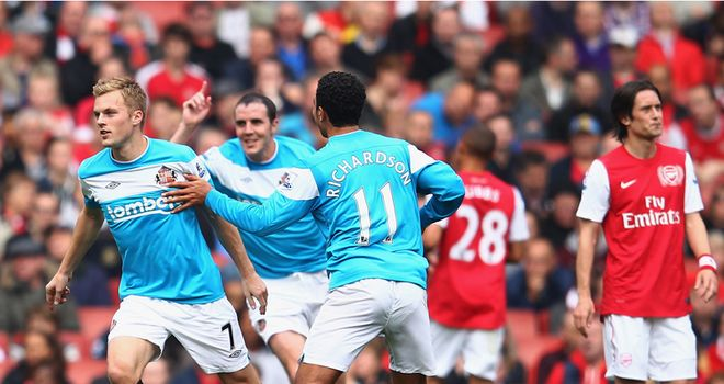 Sunderland are Arsenal's first opponents in the 2012/13 Premier League season