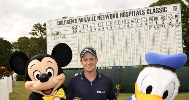 Luke Donald: Ducked in late on the final day to win Mickey Mouse's event in Florida