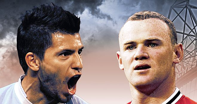 Aguero & Rooney: will go head to head on Monday Night Football