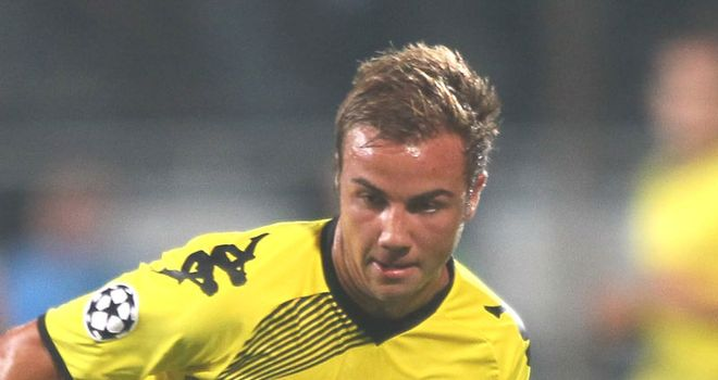 Gotze: Linked with £15million move to Arsenal