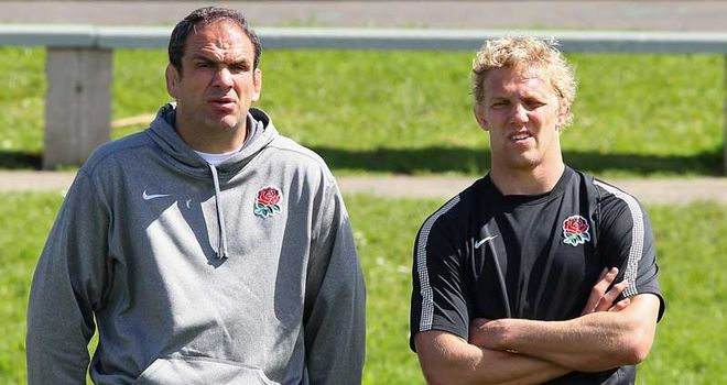 Coach and captain: Martin Johnson and Lewis Moody