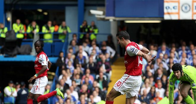 Robin van Persie: scored a hat-trick for former club Arsenal against Chelsea, in October 2011