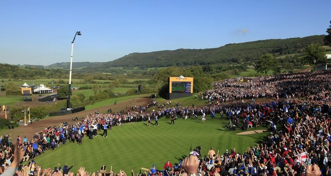 A packed Celtic Manor as Europe win the Ryder Cup