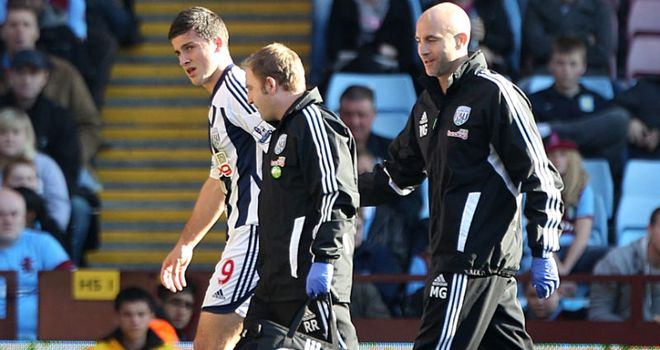 Shane Long: The striker limped off after a challenge from Hutton