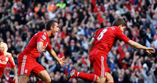 Steven Gerrard: Put his injury hell behind him when scoring the opener at Anfield