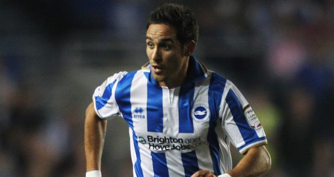 Vicente: Gus Poyet believes there is a 50-50 chance the winger will be at Brighton next season
