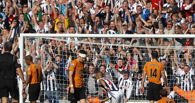 Peter Odemwingie: Helped West Brom to a 2-0 victory over local rivals Wolves on Sunday