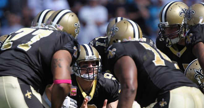 Down to business: Drew Brees and the Saints are looking good again