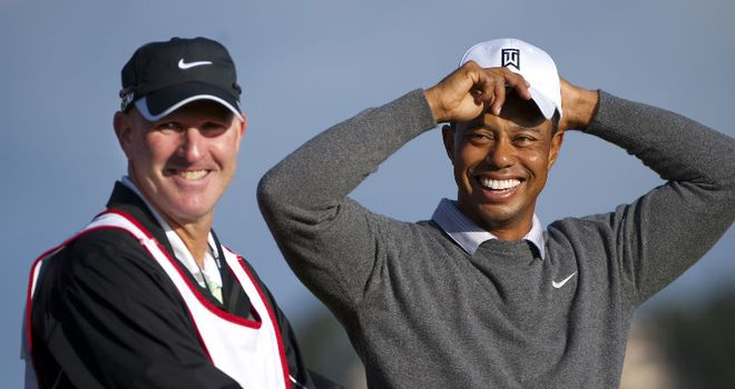 Smiles better: Woods seems happy, but can he find his form of old