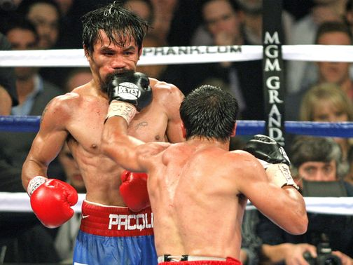 Marquez lands one on Pacquiao in their last meeting