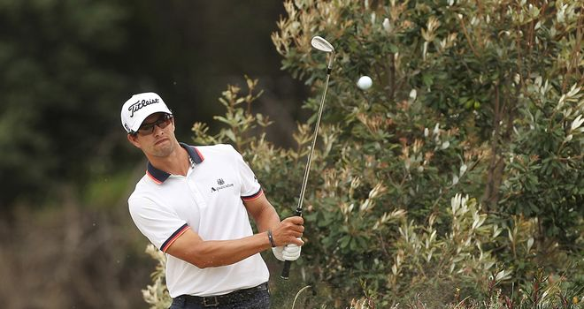 Adam Scott: One of six Internationals to post a top 10 finish