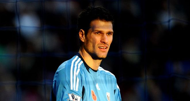 Asmir Begovic: Has the backing of his manager Tony Pulis