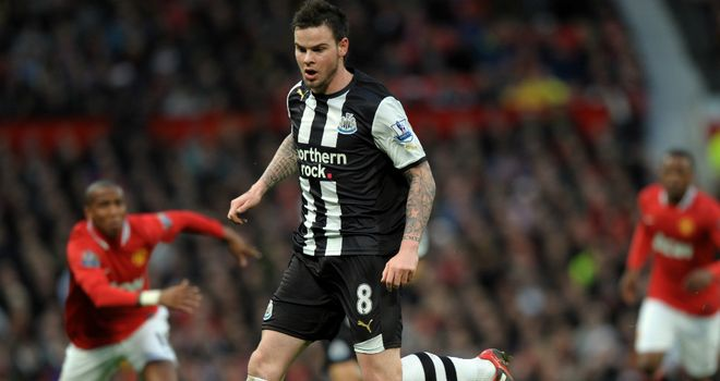 Danny Guthrie: The midfielder signed a three-year deal with Reading after leaving Newcastle