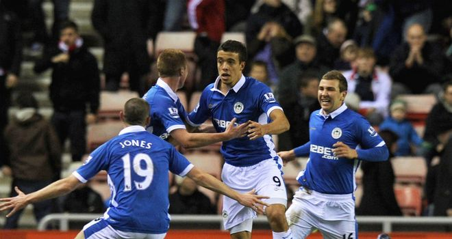 Franco Di Santo: The striker thinks Saturday's late win will give Wigan the boost they need against Arsenal