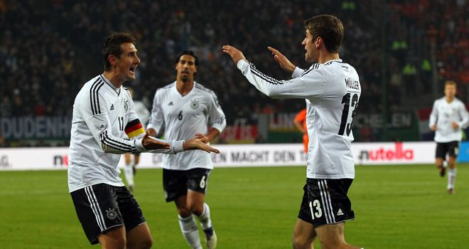Thomas Muller: On target for Germany in victory over Holland