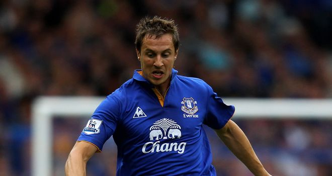 Phil Jagielka: Knows he faces a fight to get back in the Everton side ahead of Distin and Heitinga