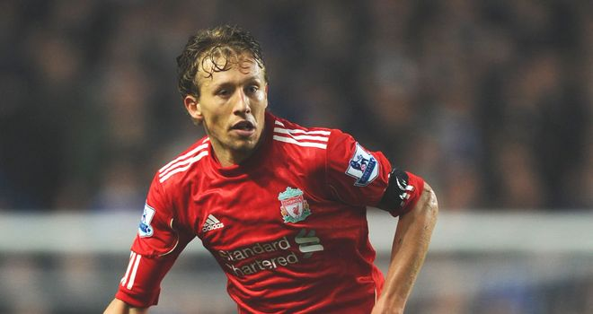 Lucas Leiva: Working his way back to fitness after damaging cruciate knee ligaments