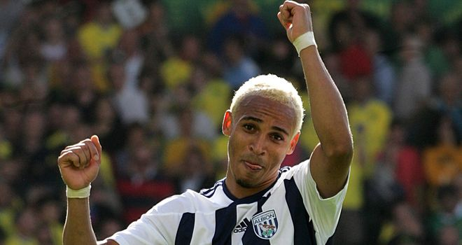 Peter Odemwingie: West Brom striker enjoys an element of luck to score opener